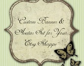 CUSTOM Banner and Avatar Set for Your Etsy Shop or Business