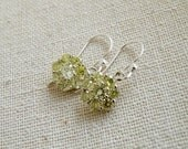 Peridot Green Cubic Zirconia Sterling Silver Dangle Earrings - Edlyn E2 Wedding Jewelry