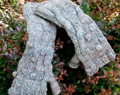 Fingerless Gloves, Rustic Luxe in Silk and Wool - HuzzahHandmade