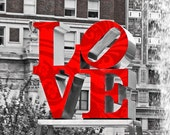 Love Urban Photography  Black and White Color For The Love Of Your Life Lustre 5 x 7  Print