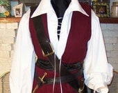 Pirate mens Renaissance Buccaneer Mate custom Costume - zachulascrypt