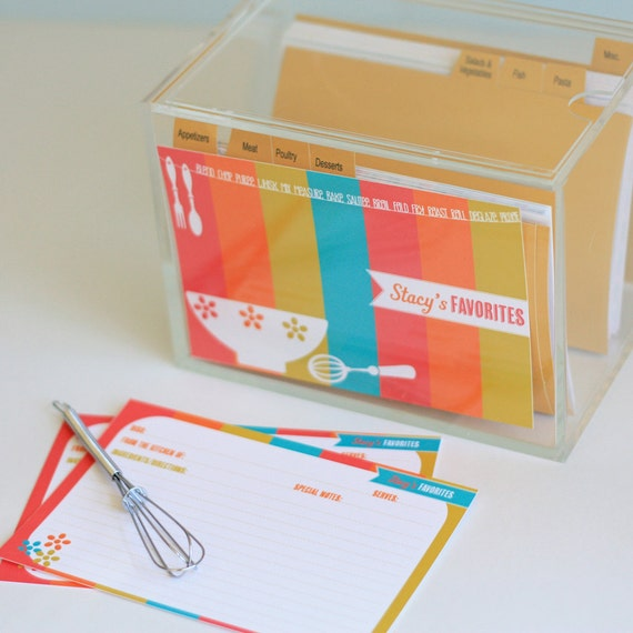 Personalized Recipe Box and Recipe Cardds
