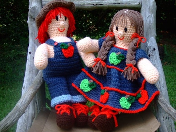 Crochet Pattern Apple Jack and Apple Annie