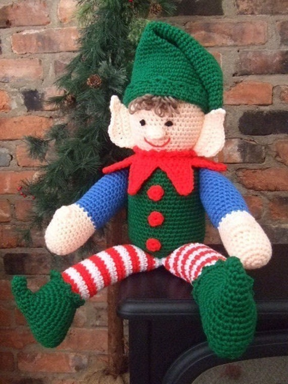 Crochet Pattern Christmas Elbert The Elf