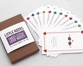 "12 Mini Love Cards or Notes, ""Sweet Little Love Notes"" (LLN-L003) - FlytrapOnE"