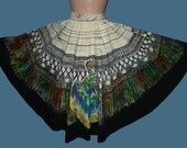 Vintage 50s Mexican Circle Skirt Hand Painted Senoritas M - TheSpectrum