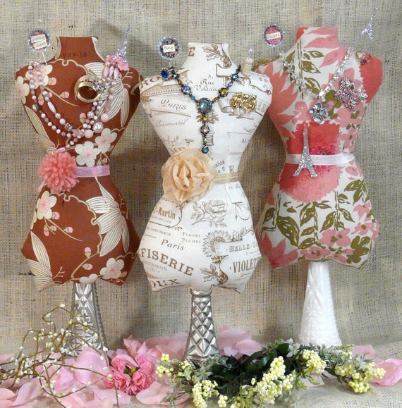 Large Mannequin Dress Form PDF Pattern - jewelry holder Pincushion Pin Keep primitive pinkeep cushion