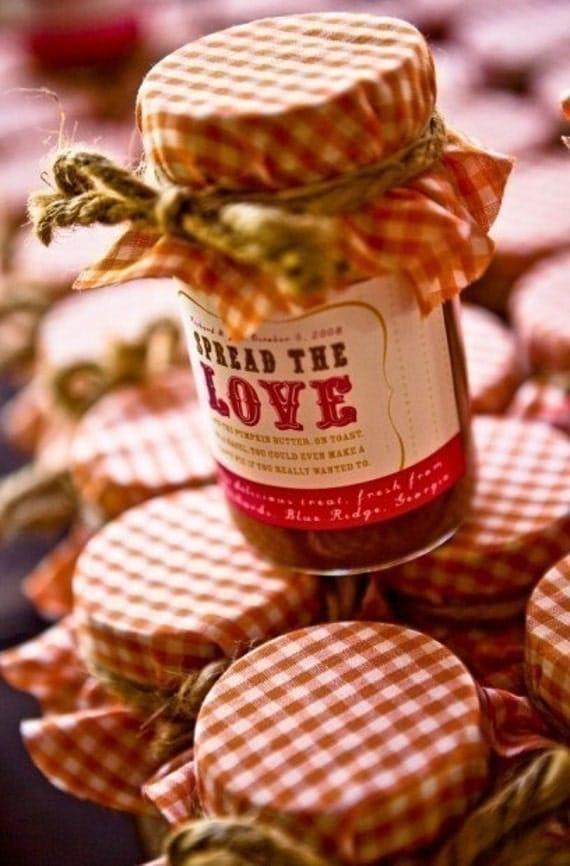 Strawberry Jam Wedding Favor
