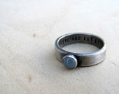 Rustic personalized sterling birthstone ring - tinahdee