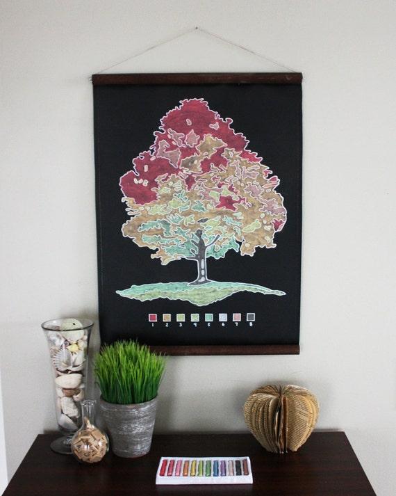 Chalk-By-Number Chalkboard Tree