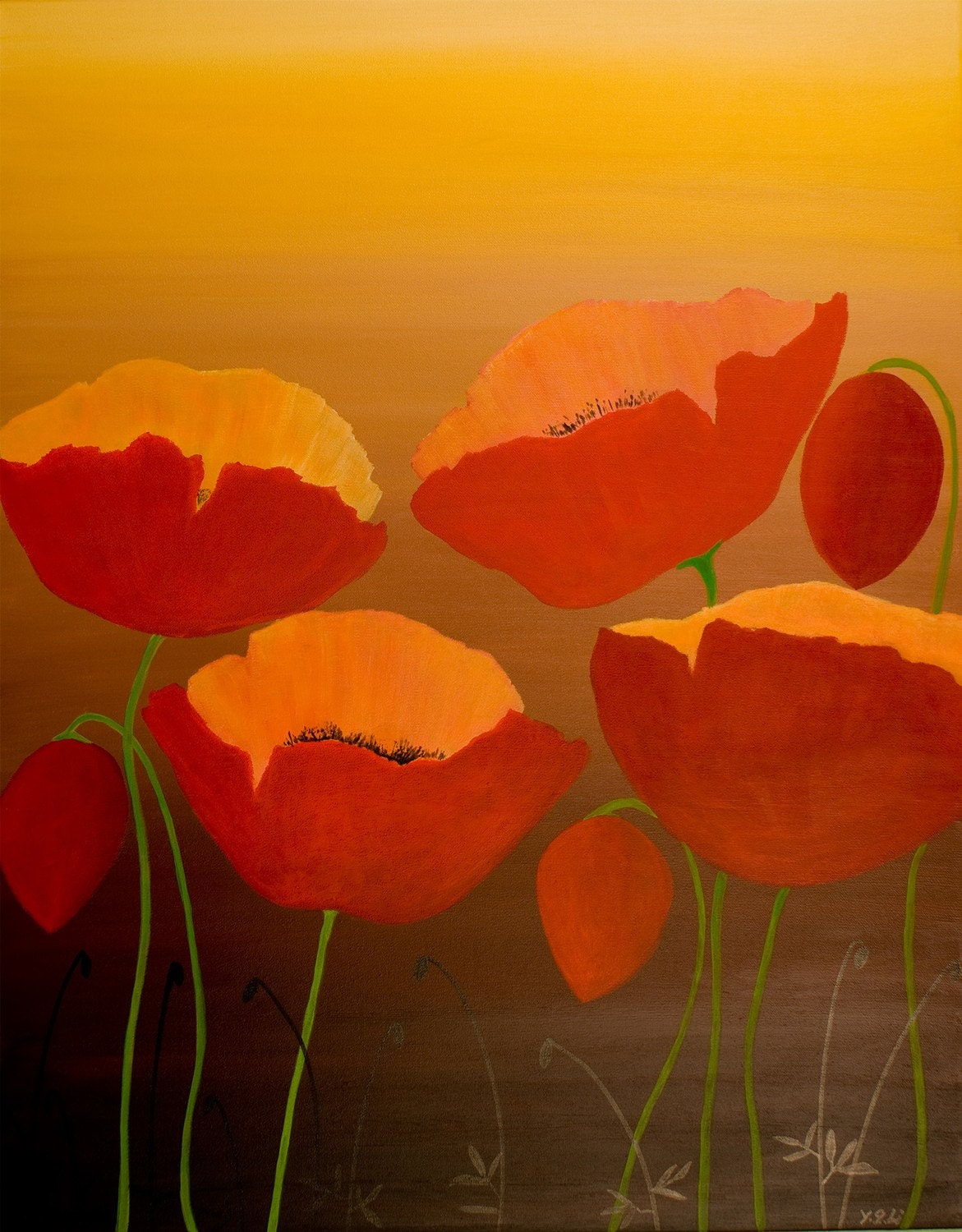 Acrylic Ground Poppy Oil Paint