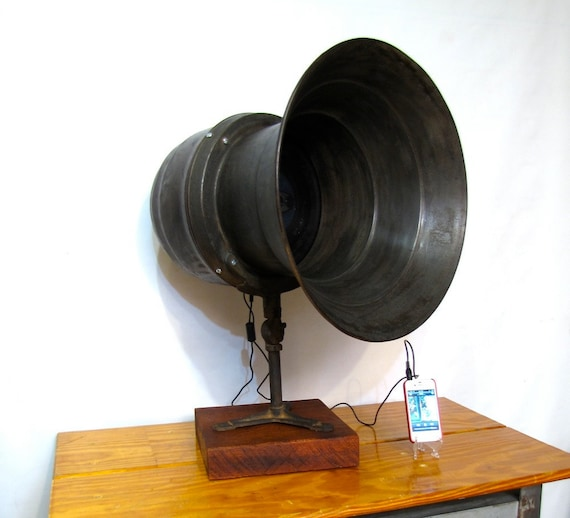 Industrial Loudspeaker Retrofitted for iPhone/iPod
