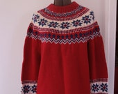 Vintage Lanz of Austria red ski sweater ladies m/l - fuzzymama