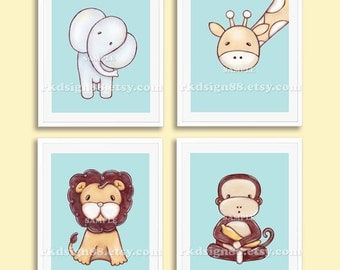 Woodland Nursery art print baby nursery decor kids by rkdsign88