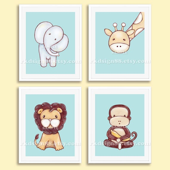 Zoo animal decorations for baby boy room interior home Boys wall decor