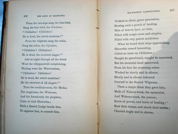 1855 first edition Song of Hiawatha