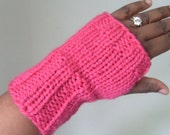 S A L E  Quick MITTS - Fingerless Gloves/Mini Gauntlets - In Fuschia
