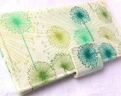 Handmade Long Wallet  BiFold Clutch -Wildfield  Citrus - faithonearth