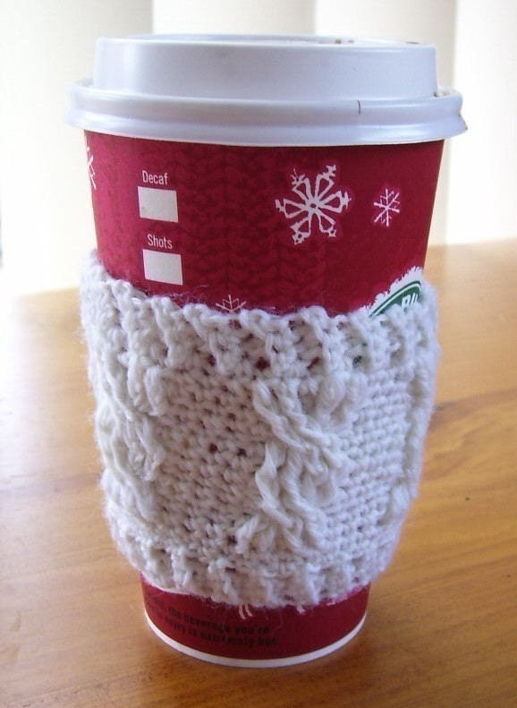 Hip Chicks Craft Too!: Crochet Coffee Cup Sleeve Pattern