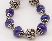 Tanzanite and Sterling Silver Necklace and Bracelet- Stunning