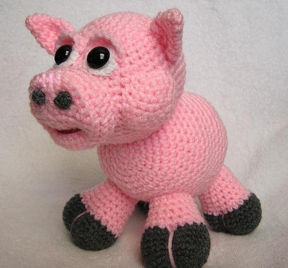 PDF Crochet Pattern BABY PIG