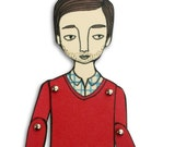 miniature moveable paper doll - JordanGraceOwens