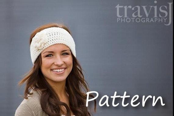 CROCHET PATTERN PDF - Instant Digital Download - Crochet Flower Headband / Earwarmer / Headwrap - Charity