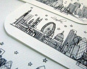 London, England - Europe - City Skyline Series - Notecards (8)