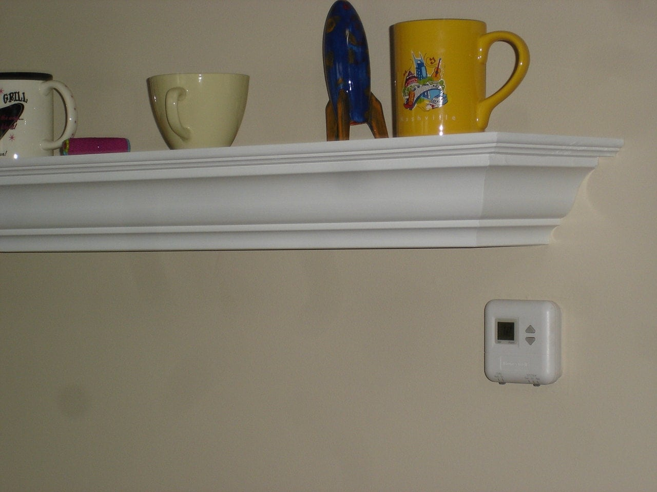 9 inch deep crown molding shelf