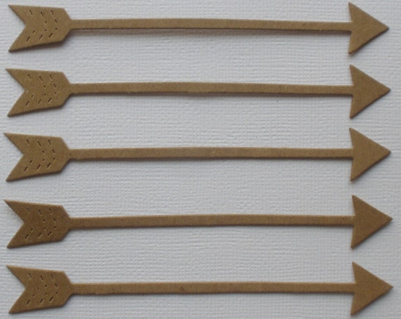 5 ARROWS - Raw Alterable CHiPBOARD Bare Die Cuts