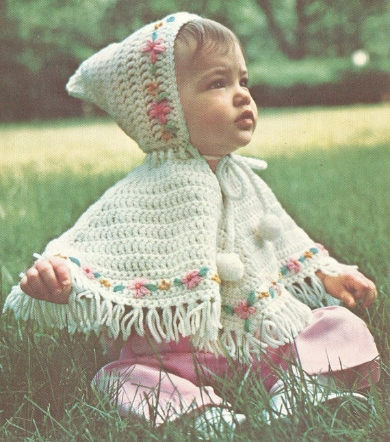 Childs Crochet Poncho Pattern Patterns Gallery