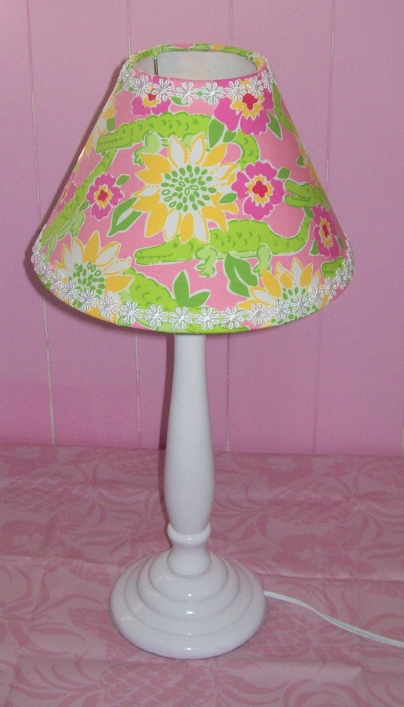 Custom Lamp Shades on New Custom Lamp Shade Mw Lilly Pulitzer Croc Monsieur By Jlmyakima