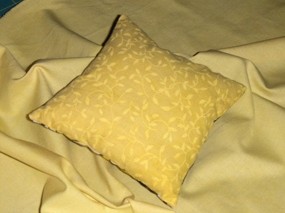 On Sale--Golden Peonies Mini Pillow--On Sale