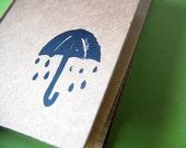 Block Printed Journal - Bad Day Umbrella - TeaAndLaundry