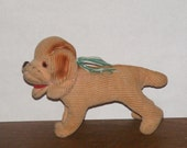Vintage Corduroy Dog Stuffed Toy or Pincushion - cottageprims