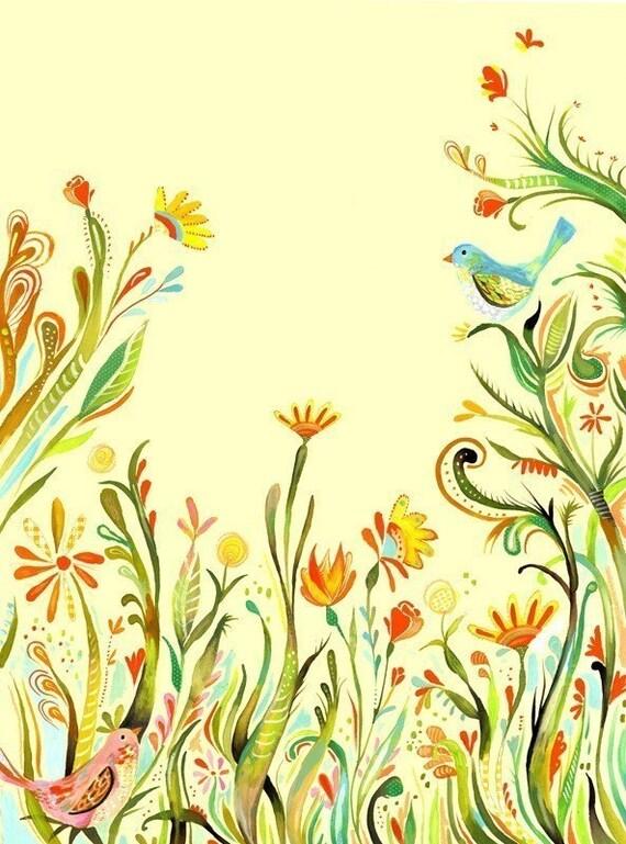 Garden Party - 8x10 print