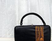 gold  wood grain purse - anotherjamiedavis