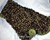 SALE Sexy Chocolate N Green Neck Warmer