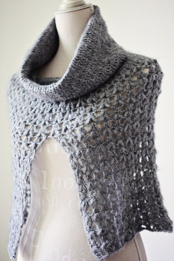 Instant download - Crochet PATTERN (pdf file) - Ladies Cowl - Poncho