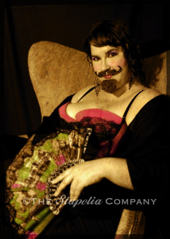 Hortensia Bearded Lady Art Photo Print Circus Set