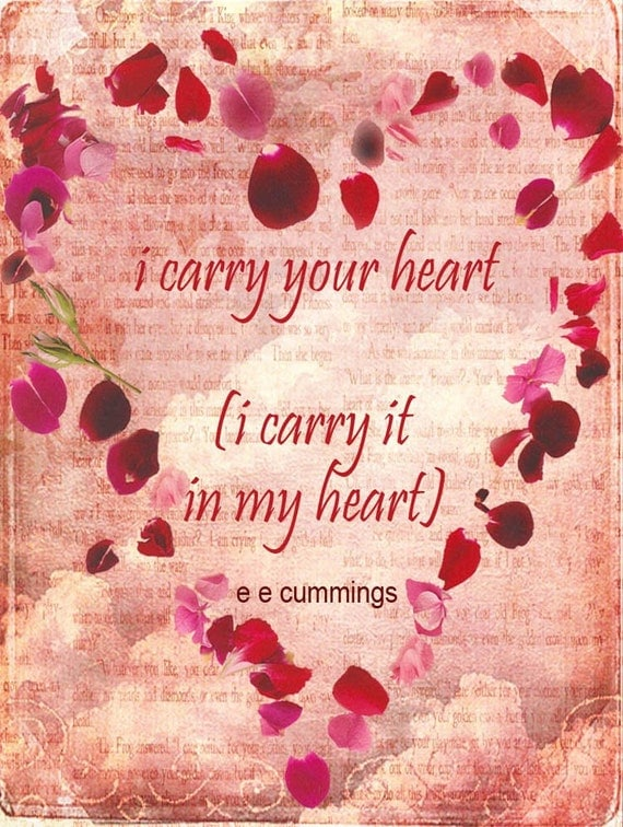 Poetic Love Card - I carry your heart