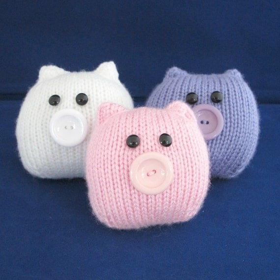This Little Piggy........ Quick and Very Easy - PDF KNITTING PATTERN