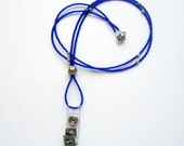 Cobalt Blue Lanyard ID Badge Eyeglass Magnetic Necklace - TinksTreasure