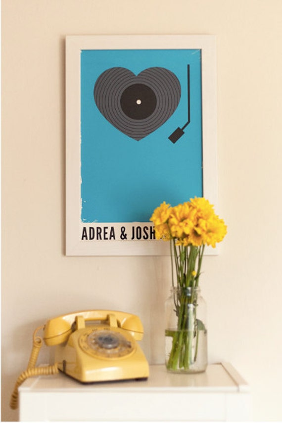 Wedding Poster - Custom Record Player Print