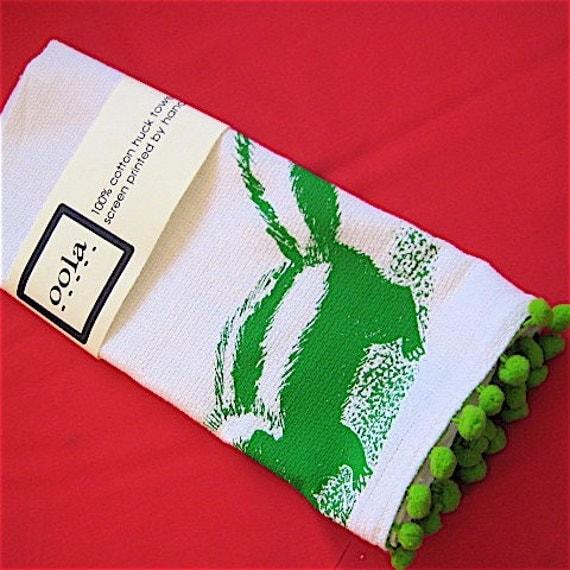 Skunk Kitchen Towel -Green