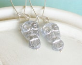 Owl Earrings - Silver Hoot - linkeldesigns