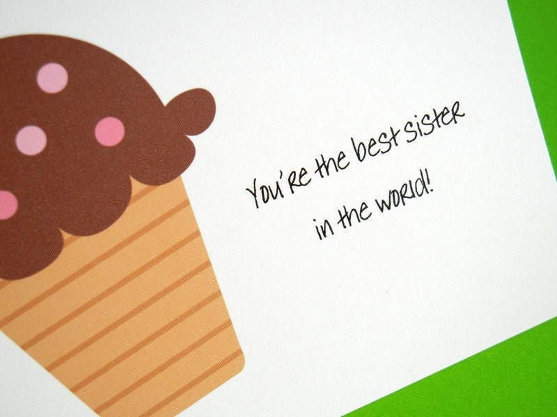 Mean Sarcastic Funny Adult Birthday Card For Sister Best Sister
