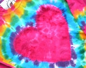 HEART T  shirt. long sleeve, cotton, hand dyed, child, youth - SplendidLittleStars