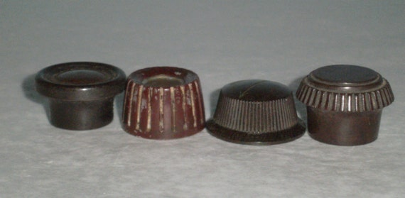 brown radio knobs