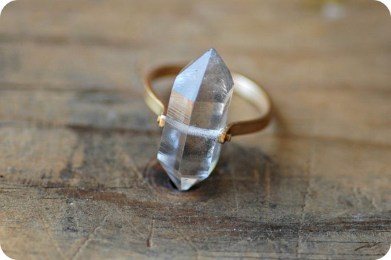 Herkimer Diamond With Gold Band